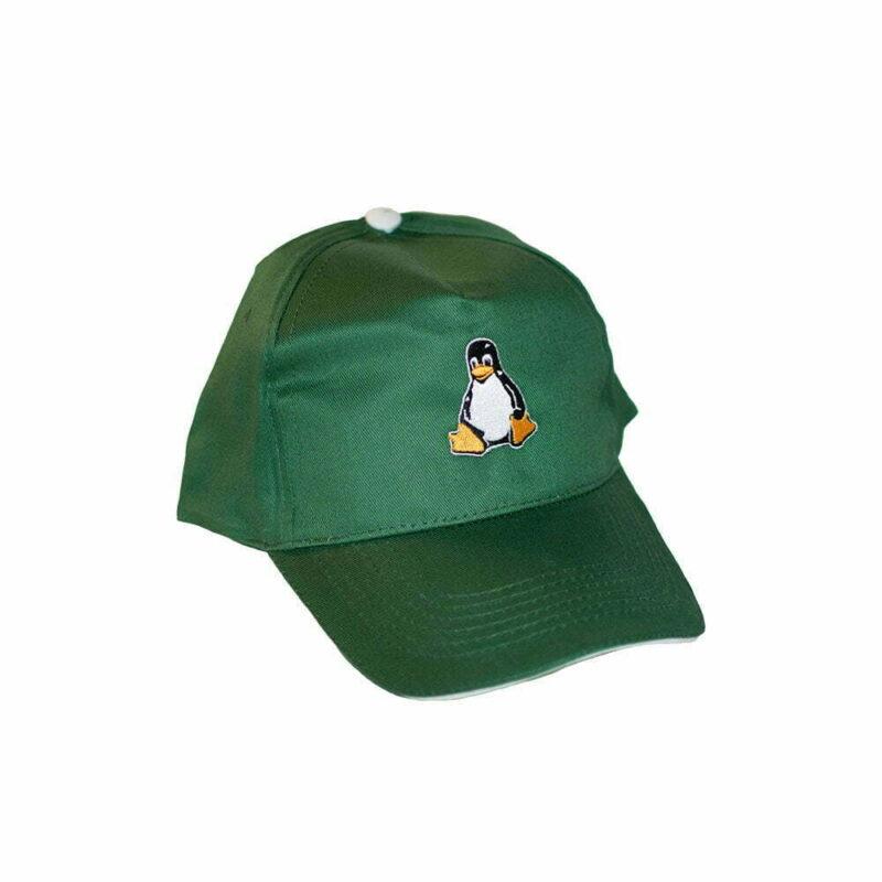 Grøn Linux Kasket med Tux
