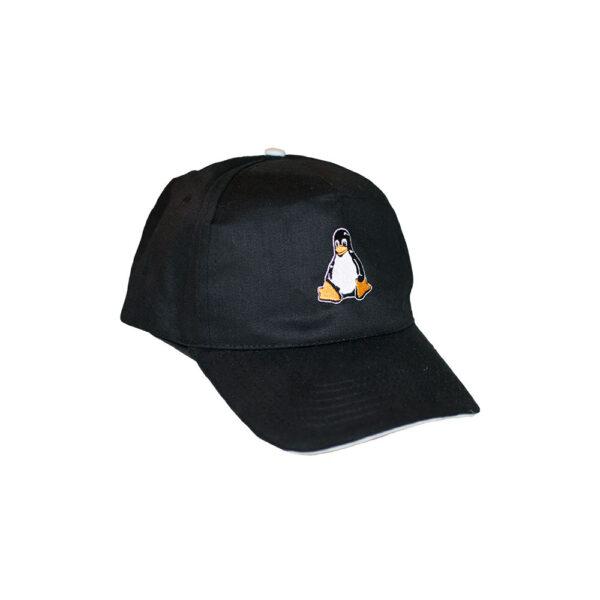 Black Linux Cap with Tux