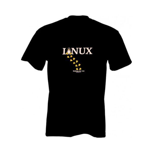 "Linux T-shirt ""Walking your way"""
