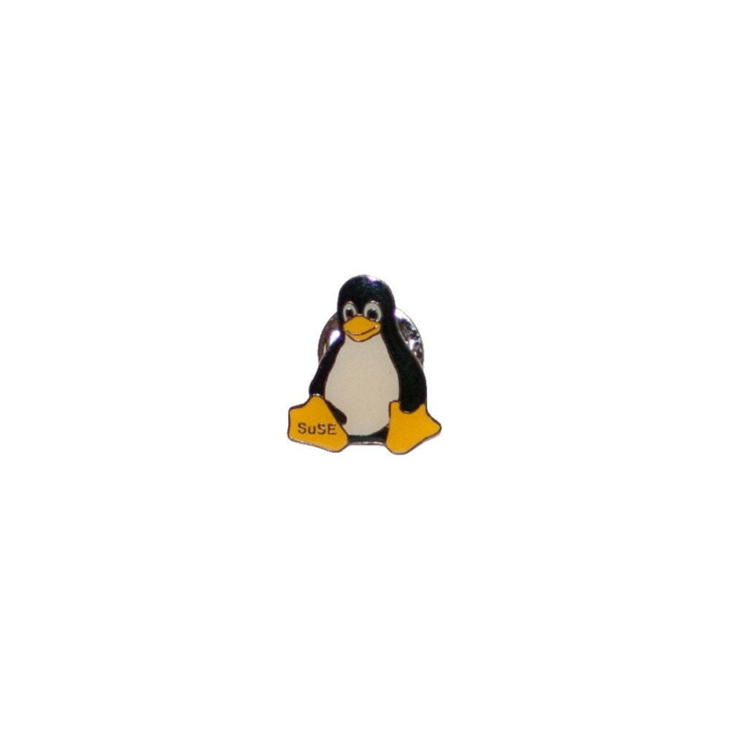 Linux badge med Tux m. SUSE