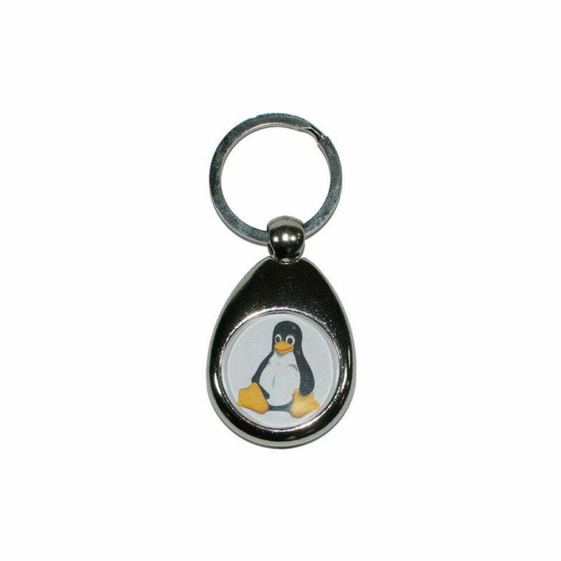 Nøglering med Tux Linux logo