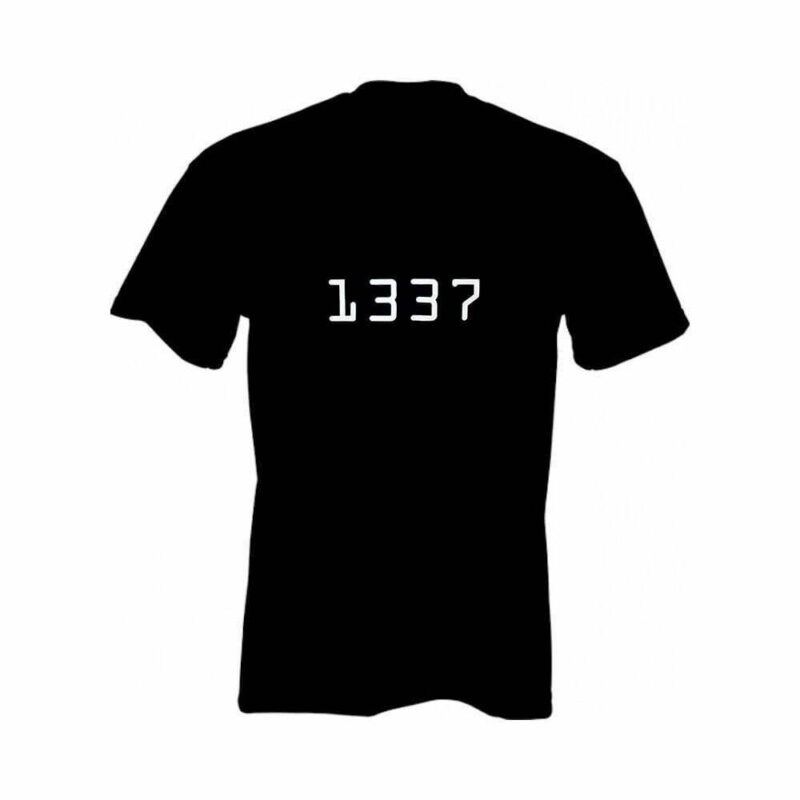 """Nørd T-shirt """"1337"""""""